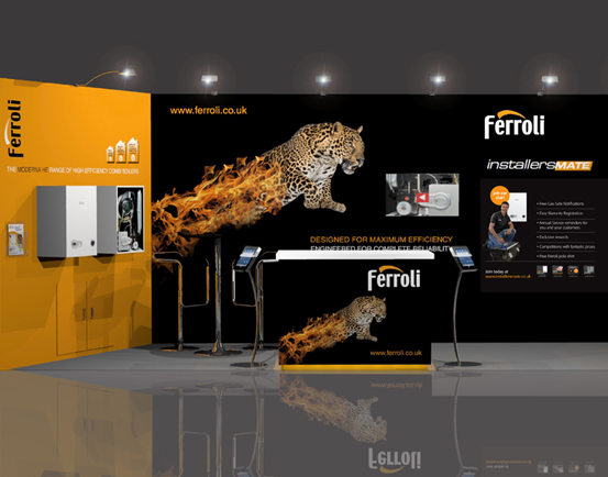 Envisage Exhibition Stand Design And Build Uk : Ferroli: exhibition stand sans frontiere marketing communications